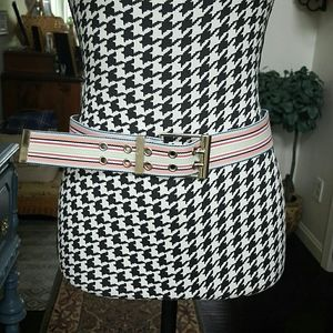 IZOD Striped Belt Size M